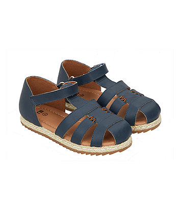 navy fisherman sandals