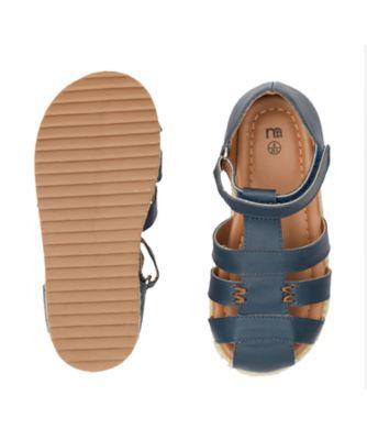 navy fisherman sandals
