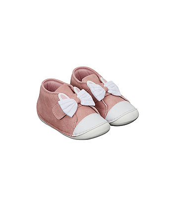 pink bunny crawler shoes