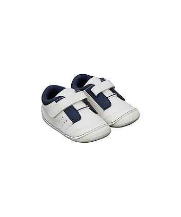 white sporty crawler trainers