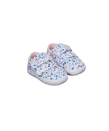 floral canvas pram shoes