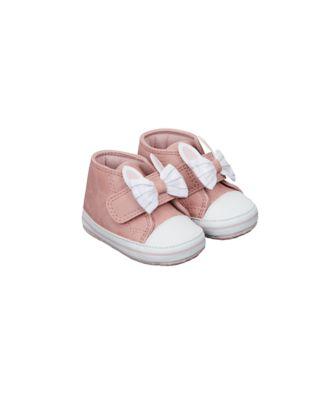 pink bunny hi-top pram shoes