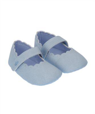 white t-bar pram shoes