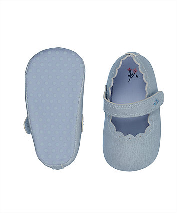 blue t-bar pram shoes