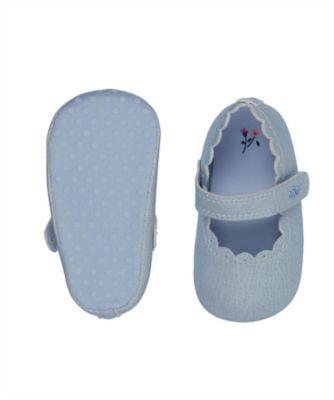 blue t-bar pram shoes