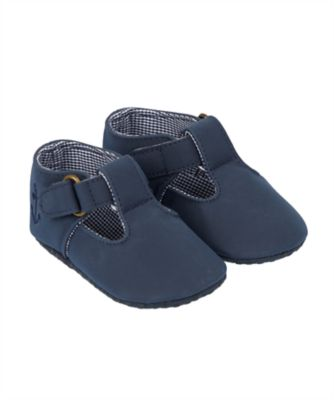 navy t-bar pram shoes
