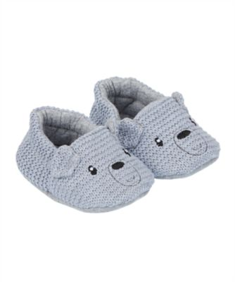 knitted bear slippers