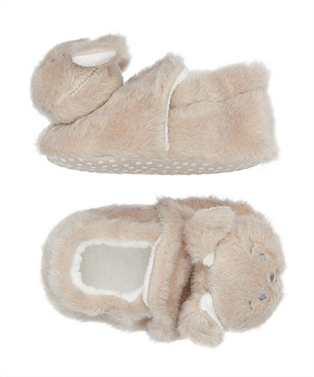 fluffy puppy slippers