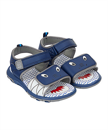 shark blue trekker sandals