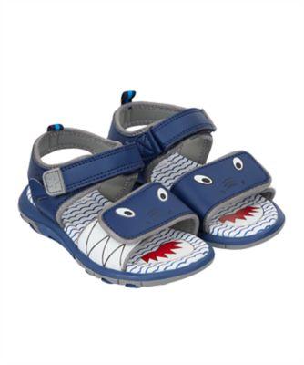 shark blue trekker sandals