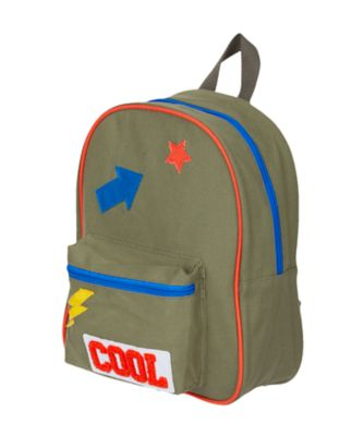 back to nursery khaki badge backpack