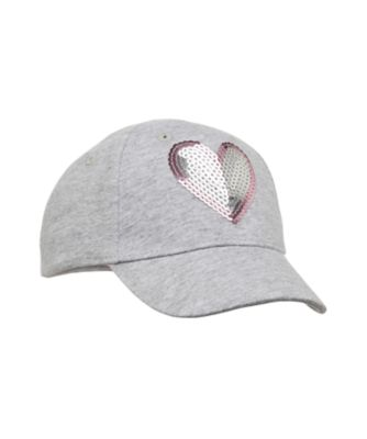 back to nursery sequin heart cap