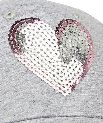 back to nursery sequin heart cap