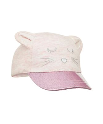 pink mouse glitter cap