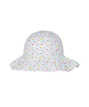 floral broderie sun hat