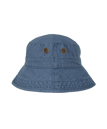 washed eyelet fisherman hat