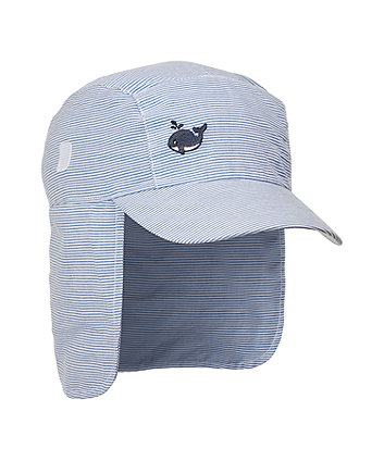 blue striped keppi hat