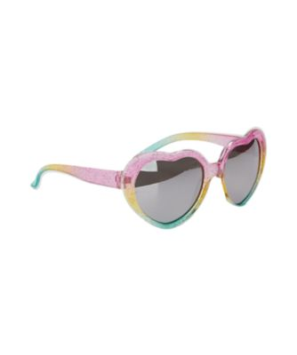 pink heart frame sunglasses