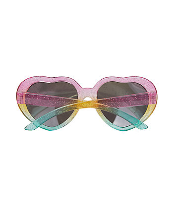pink heart frame sunglasses