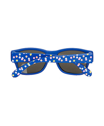 navy spot baby sunglasses
