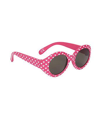 pink heart baby sunglasses