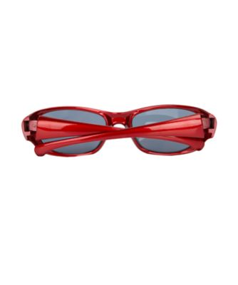 red sporty sunglasses