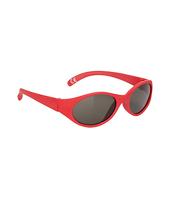 red sporty baby sunglasses