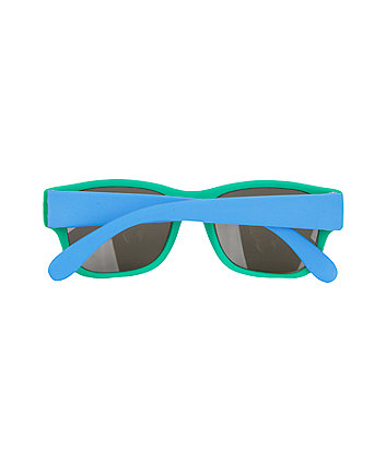 green frame baby sunglasses