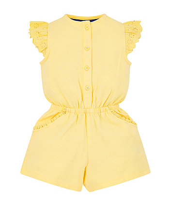 yellow broderie playsuit