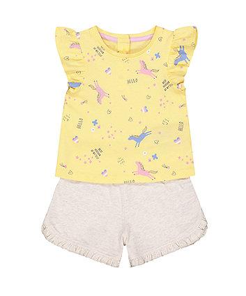 unicorn vest and shorts set