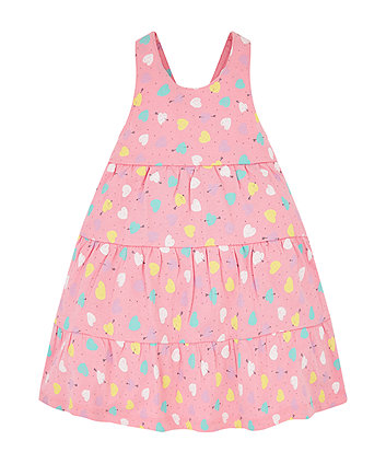 pink heart tiered dress