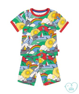 little bird playground adventure shortie pyjamas