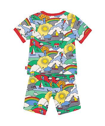 little bird playground adventure shortie pyjamas