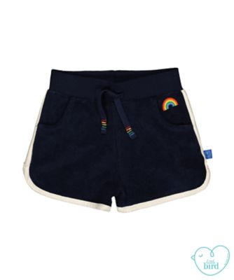 little bird navy towelling shorts