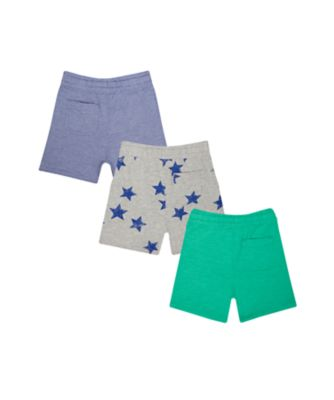blue, green and stars shorts – 3 pack