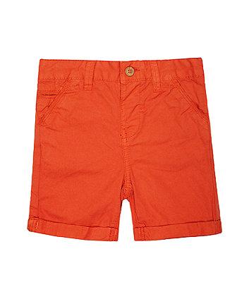 orange twill shorts