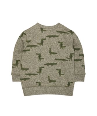 khaki crocodile sweat top