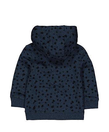teal scribble hoodie
