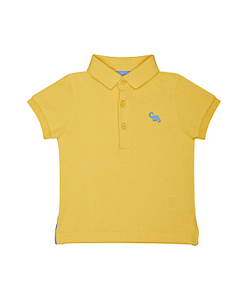 yellow dinosaur polo shirt