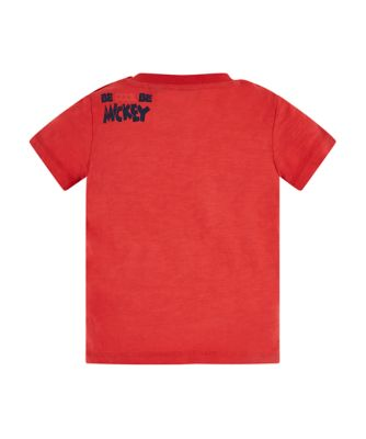 Disney mickey mouse faces red t-shirt
