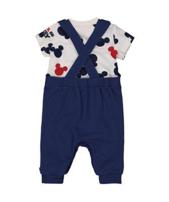 Disney 3d mickey dungarees and t-shirt set