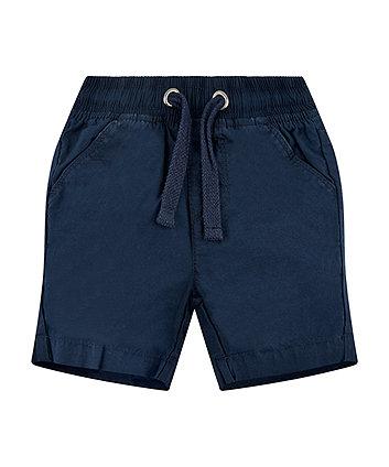 navy poplin shorts