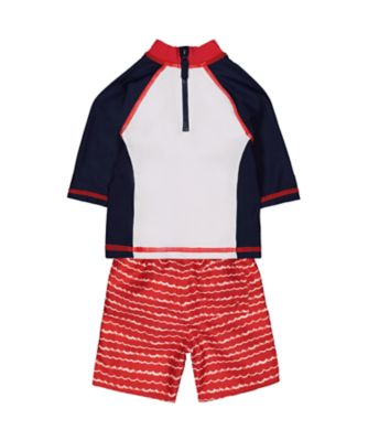 whale swim shorts and rash vest