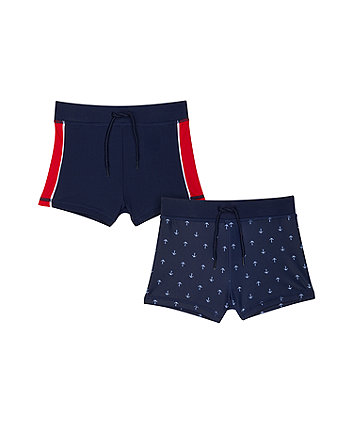 navy anchor trunkies - 2 pack
