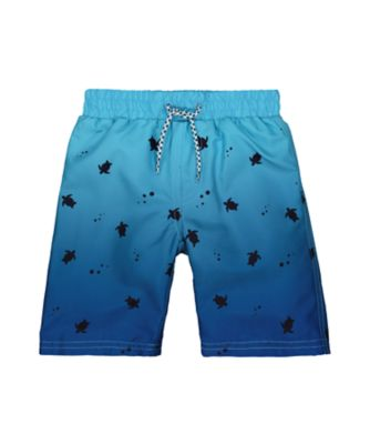 blue ombre turtle board shorts