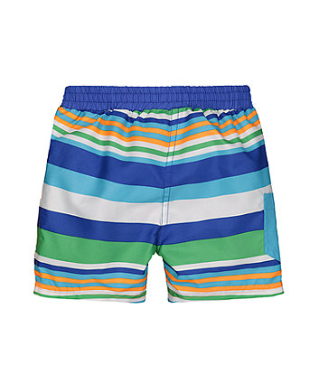 striped boardshorts