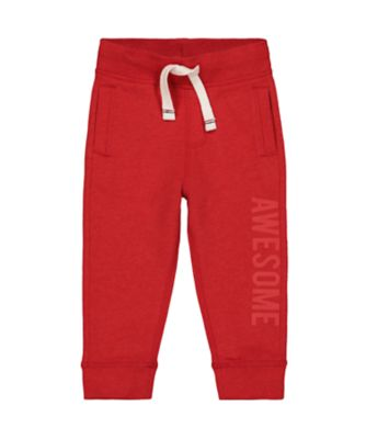 red awesome joggers