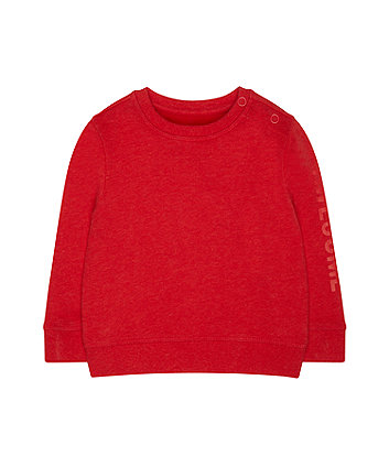 red awesome sweat top