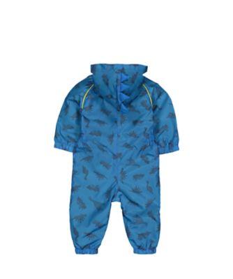 blue dinosaur puddlesuit