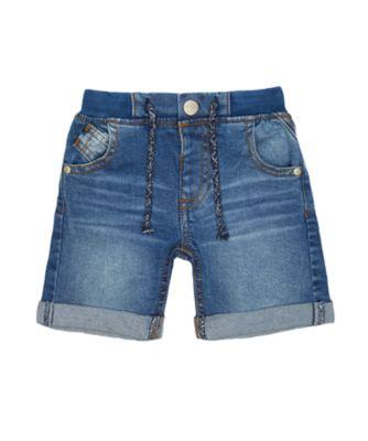 mid-wash denim shorts